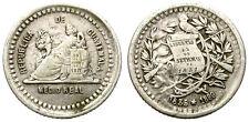 GUATEMALA. 1/2 REAL. 1889. MONEDA CON BELLÏSIMO DISEÑO