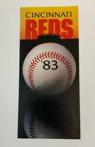 1983 Cincinnati Reds MLB Baseball Schedule Sked '83 Riverfront Stadium