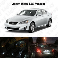 14 x White LED Interior Bulbs + License Plate Lights For 2006-2013 IS250 IS350