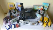 Nintendo 64 Console Adapter Controllers Memory Cards Games Bundle Working N64