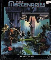 "PC Big Box 3.5"" Floppy Disk Game Tegel's Mercenaries 1992 Mindcraft NOS NIB"