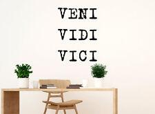 Veni Vidi Vici - Came, Saw, Conquered - Julius Caesar Word Quote Wall Decal q3