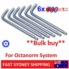 NEW Bulk lot of 6x T30 L-Type Torx Star Key for Octanorm System & Other (6LT30)