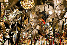 STUNNING MASQUERADE BALL PARTY MASKS CANVAS PICTURE #46 WALL HANGING ART A1