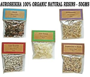 AUROSHIKHA High Quality 100% Organic Premium Natural Resin Incense, 50 Grams