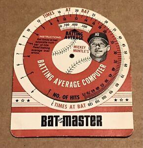 Mickey Mantle's Bat Master Batting Average Computer 1960's