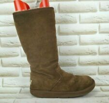UGG Australia Womens Brown Leather Winter Outdoor Tall Boots Size 6.5 UK 39 EU