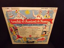 "Lucienne Vernay Rondes et Chansons de France 10"" LP Philips French pressing VG+"