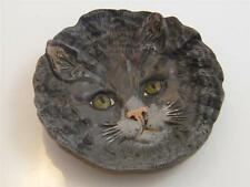 COLD PAINTED SOLID BRONZE CAT ASH TRAY