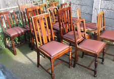 LARGE COLLECTION OF OAK 1920s DINING CHAIRS- IDEAL FOR PUBS, RESTAURANTS ETC