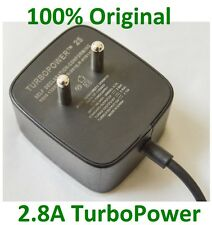 100% Original 2.8A Motorola Turbo Charger, Fast QuickCharge 2.0 TURBOPOWER Charg