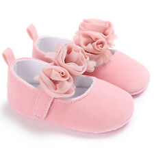 Baby Girl Princess Shoes Infant Toddler Mary Jane Flower Party Wedding Flat Shoe