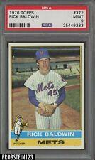 1976 Topps SETBREAK #372 Rick Baldwin New York Mets PSA 9 MINT
