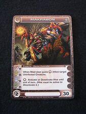 Chaotic Trading Card MAKRABON Creature 19/100 MINT