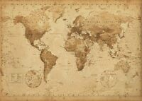 WORLD MAP VINTAGE ANTIQUE POSTER (61x91cm) PICTURE PRINT NEW WALL DECOR ART ROOM