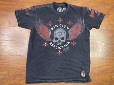 Affliction Men's T-shirt 2Xl Sin City live fast Large Black D2