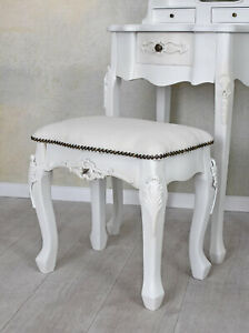 Sitting Stool For Make-Up Ottoman Antique Stool White Stool Bench