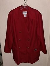 ESCADA SPORT Red Oversized Double Breasted Thick Coat Jacket Blazer M