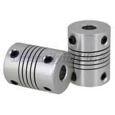 2PCS Metal 6.35x10mm Flexible Motor Shaft Coupling Coupler D19L25 for 3D Printer