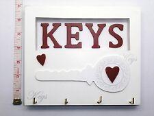 4 Shabby Chic Key Hook - Holder - Rack - Hanger Birthday Gift Ideas For Her