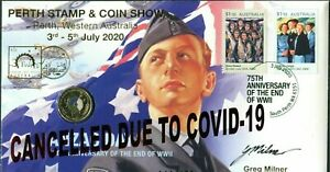 2020 End WWII PERTH STAMP & COIN SHOW PNC CANCELLED due to CV19