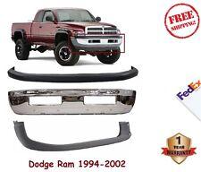 Front Bumper Kit 1994-2001 Dodge Ram 1500 2500 3500 Chrome Steel With Valance