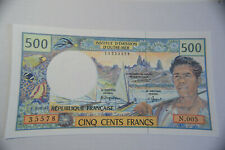 French Pacific Territories 500 Francs 1992 P1b UNC Banknote