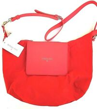 Borsa Patrizia Pepe Tracolla Trasformabile Shopping Nylon Eco Pelle Red Orange