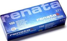 100PCS.RENATA 371 SR920SW  WATCH BATTERIES,SWISS MADE, 0% MERCURY