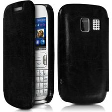 Case Cover Flap Side Black for Nokia Asha 302 + Protection Film