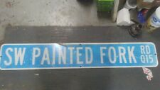 """Sw Painted Fork Rd Q15. Highway Sign. 54""""x9"""".Es-31"""