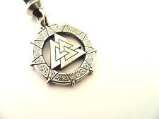 Celtic Valknut Warrior's Knot Pewter Pendant, Resurection, Rebirth
