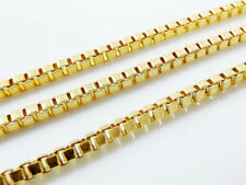 """*SOLID* """" 10k Yellow Gold Box Chain """" Necklace 10Kt """" Men Women """" 16 inch"""