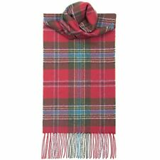 Lochcarron Men/Ladies Maclean of Duart Weathered Tartan 100% Lambswool Scarf