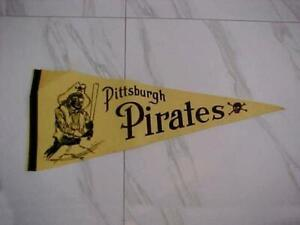 "VERY RARE VINTAGE 1950'S PITTSBURGH PIRATES  FULL SIZE PENNANT 29"" X 11 3/4"""