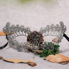 Fetish Lace Eye Mask SM  Erotic Masquerade Ball Carnival Fancy Party -SILVER