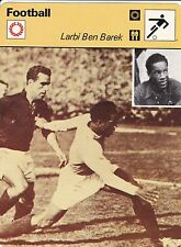FOOTBALL carte joueur fiche photo LARBI BEN BAREK ( MAROC )