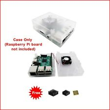 Clear Premium ABS Case with Fan for Raspberry Pi 3 / 2  Model B & Pi Model B+