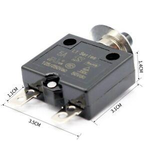 Circuit Breaker 5 10 15 30A Optional Reset Thermal Switch Manual Reset Thermal