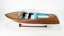 "Riva Aquarama Handmade Wooden Classic Boat Model 48"" RC Ready"
