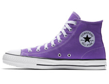 The Converse CONS Pro Purple High Top Men's Skateboarding Sneakers Leather Trim