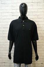 TOMMY HILFIGER Uomo Polo Maglia Size Forte Maglietta Manica Corta Shirt Big Nera
