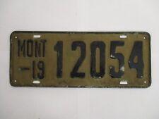 1919 Montana  License Plate Tag