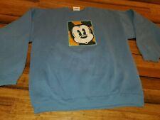 Vintage Disney Store blue Sweatshirt Size XL 50/50 USA Made Mickey Mouse Goofy