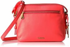 $138 Fossil Women's Piper Toaster Bag Crossbody Handbag Neon Coral ZB6865281