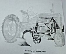 IH McCormick Farmall C Super C C-18 Skip Row Middlbuster Plow 200 230 Manual '48