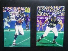 Randy Moss , Steve Hutchinson 4x6 Custom Hall of Fame Cards Minnesota Vikings