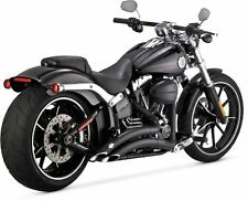 2013-2017 HARLEY BREAKOUT / CVO Big Radius Exhaust Black (VANCE AND HINES 46065)