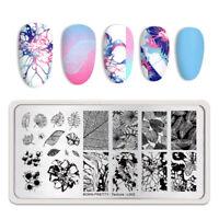 BORN PRETTY Leaves Nail Stamping Plates Nail Art Image Stencil Autumn Texture