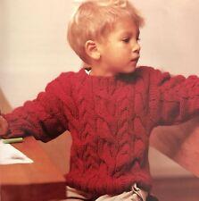 FCi30 - Knitting Pattern - Boy's or Girl's Chunky Aran Sweater Jumper - 4 Sizes